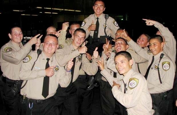 Lorenzo Teruya pictured hoist above fellow PCSO Explorers as they celebrate his selection to National Youth Representative for Law Enforcement Exploring at the national conference in Fort Collins, CO on 7/19/2012